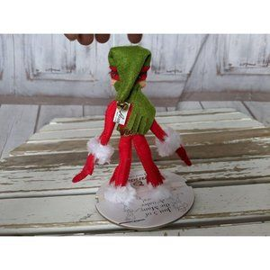 Annalee Holiday - Annalee 2012 Red Elf Green Scarf and Hat 75th Anni